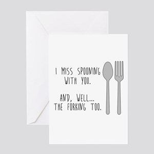 Spooning and Forking Greeting Cards